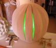 Lampada Zucca lavorazione artigianale con spicchi verticali diametro palla 28/30