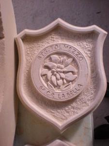 Crest in pietra leccese 6 compagnia la ''Bella'' Battaglione Tolmezzo